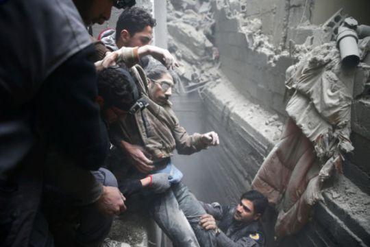 Serangan udara terbaru di Ghouta tewaskan 14 orang