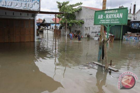 Banjir di Desa Kayu Besi Bangka berangsur surut