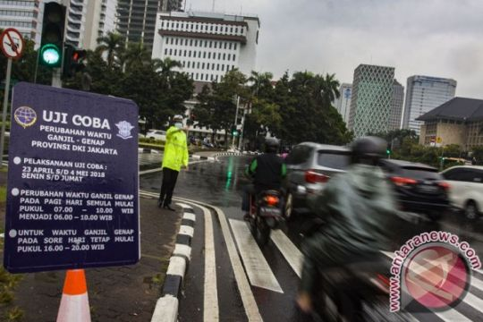 Penambahan waktu uji coba ganjil genap di Jakarta terus dipantau