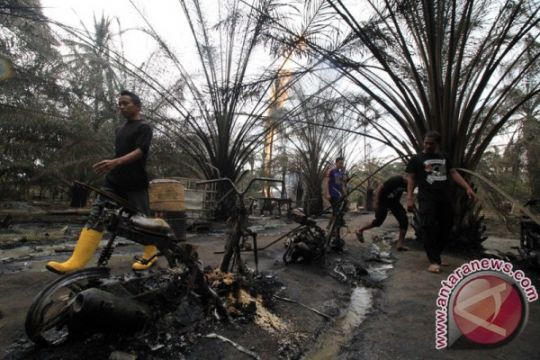 Api dari semburan gas sumur minyak Aceh Timur sudah padam