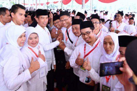 Presiden Jokowi: Persatuan Indonesia dibangun dalam kerangka Ketuhanan