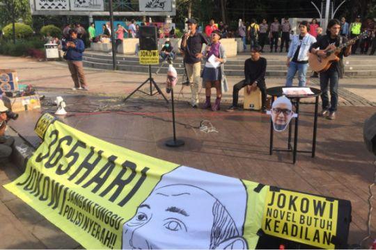 Setahun penyerangan, Tim Advokasi Novel Baswedan gelar aksi