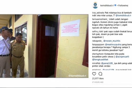 Akun Instagram Kemdikbud kembali dihujani keluhan