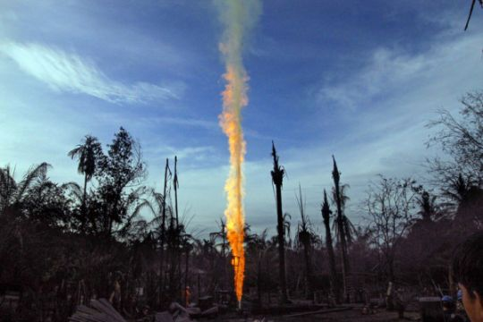 Tekanan semburan minyak Aceh belum stabil