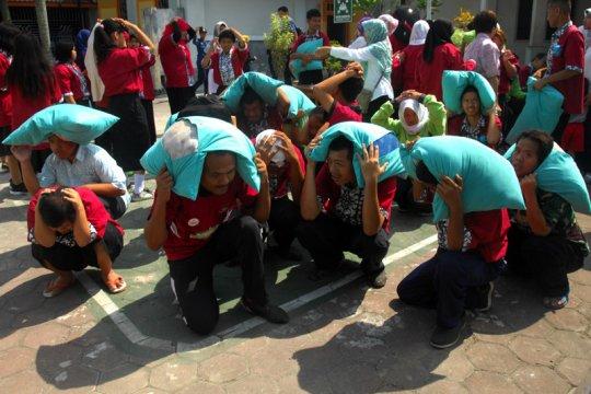 Ratusan penyandang disabilitas di Temanggung ikuti simulasi bencana
