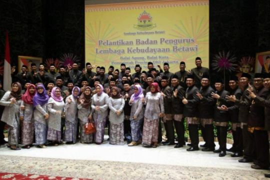 Sandiaga kukuhkan pengurus Lembaga Kebudayaan Betawi