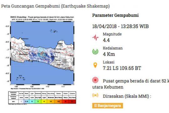 Bupati Banjarnegara: dua orang meninggal dunia akibat gempa