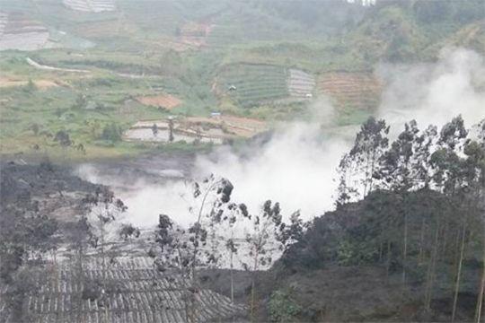 Kawah Sileri Dieng meletus lagi, semburkan lumpur 150 meter