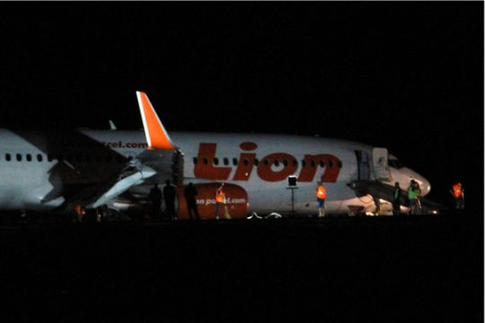 Pesawat Lion Air Tergelincir