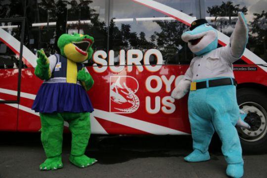 Surabaya uji bus tingkat trayek utara-selatan