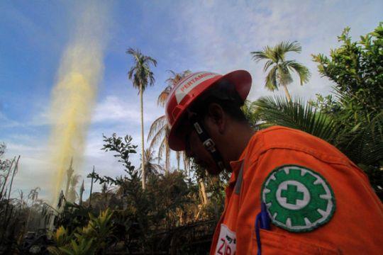 Api sumur minyak sudah padam tapi 198 orang tetap mengungsi