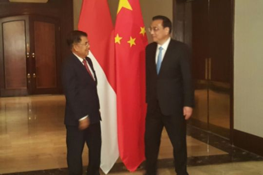 Wapres-PM China bahas peningkatan kerja sama perdagangan