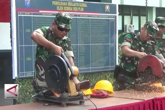 Korem 102 Panju Panjung musnahkan 143 pucuk senjata api rakitan