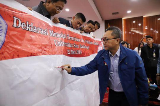Ketua MPR pimpin deklarasi tolak terorisme dan radikalisme