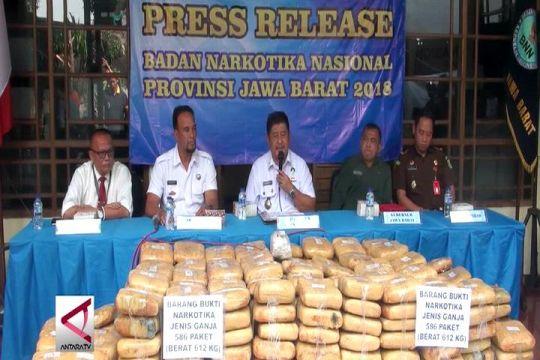 BNN Jabar gagalkan penyelundupan 1/2 ton ganja