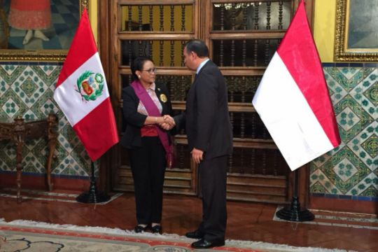 Retno Marsudi terima penghargaan dari Pemerintah Peru