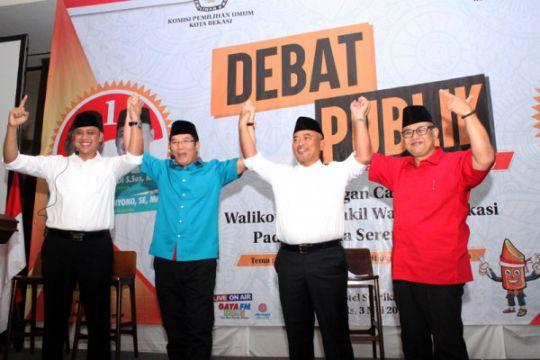 Seorang pendukung cawalikota Bekasi diusir dari ruang debati