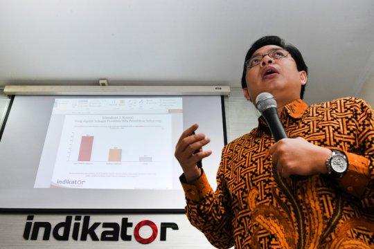 Survei Indikator: Publik percaya KPU netral dalam pilpres