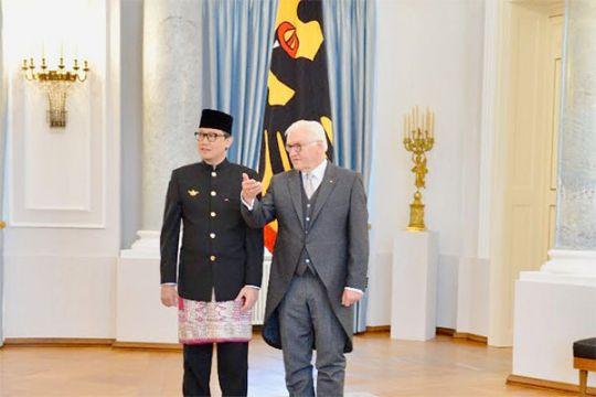 Dubes Arif serahkan surat kepercayaan kepada presiden Jerman