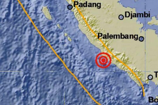 Gempa 5,4 skala Richter di dekat Seluma Bengkulu