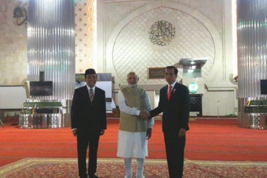 PM Modi tabuh bedug di Istiqlal