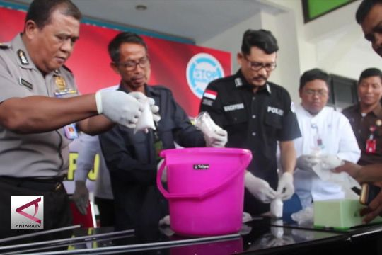BNNP Jateng musnahkan sabu senilai rp 3,2 miliar