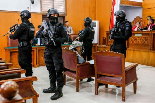 Pengamanan Sidang Pledio Aman Abdurrahman