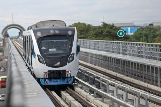 LRT Sumatera Selatan beroperasi bulan depan