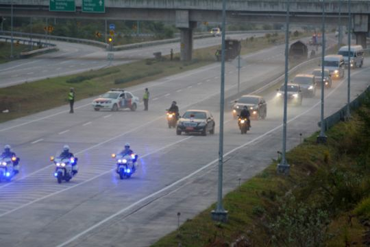 Penerobos konvoi presiden melakukan tiga pelanggaran