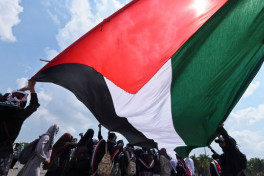 Lembaga donasi Palestina galang dana di Aksi 115