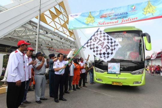 Diangkut 79 bus, 4.000 ribu pemudik gratis dilepas Pemprov Jatim