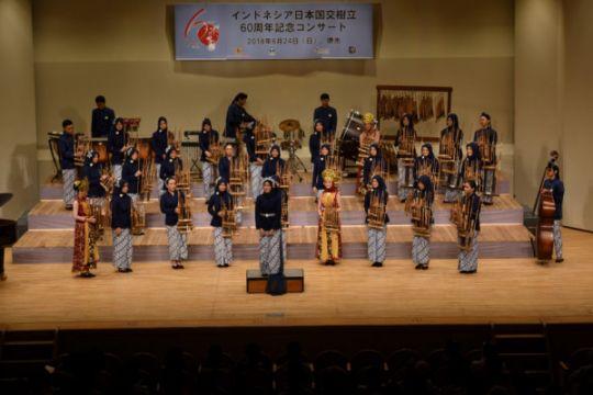 Rayakan 60 tahun Indonesia-Jepang, KJRI Osaka kawinkan angklung dan taiko