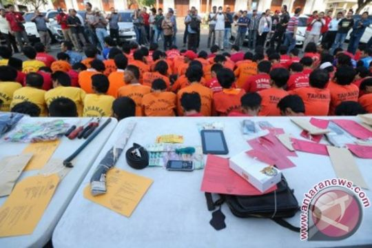 Polrestabes Surabaya jaring 487 preman