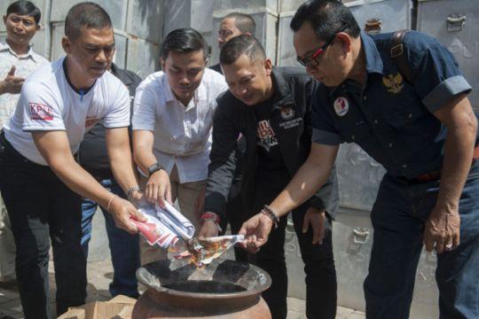 Pemusnahan surat suara pilkada Bali