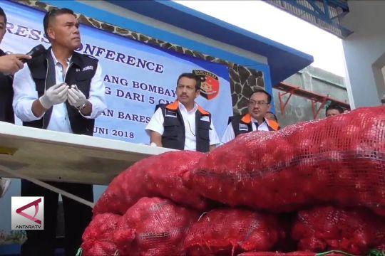 Polri sita 670 ton bawang bombai impor ilegal