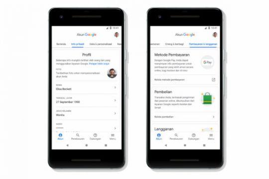 Akun Google permudah pengaturan keamanan