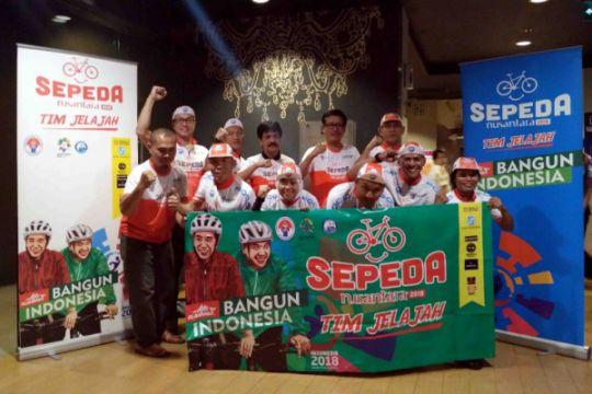 Tim Jelajah Sepeda Nusantara 2018 sapa warga Sampit