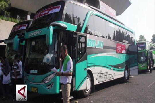 15 Bus PT Jasa Raharja berangkatkan 750 pemudik