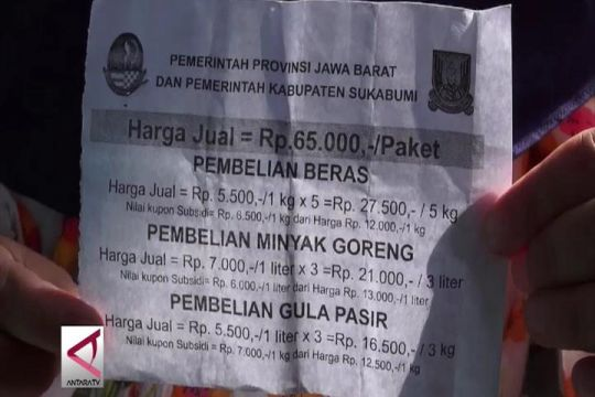 Pemkab Sukabumi sediakan 6.000 paket sembako murah