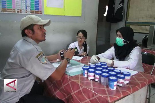 BNNP Jabar tes urine sopir bus di Terminal Cicaheum