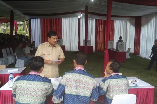 Soal penggalangan dana, Prabowo: alhamdulillah ada yang nyumbang Rp5.000