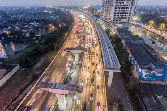 Proyek LRT Jakarta telah rampung 85 persen