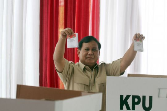 Prabowo gunakan hak pilih