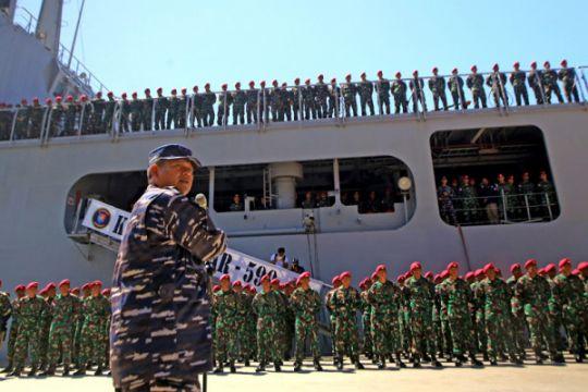 TNI AL lakukan pendekatan dengan KM Mina Sejati yang diduga dibajak