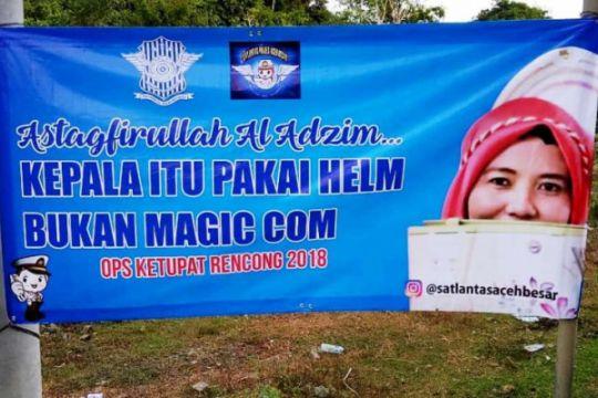 Polres Aceh Utara gunakan poster lucu ingatkan pemudik