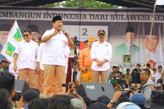 Prabowo Subianto semangati kader di Pilkada Sumatera Selatan
