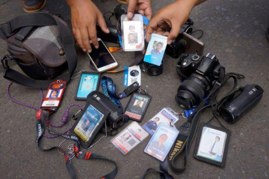 Wartawan Demo Pemkab Tulungagung