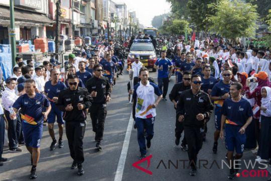 Arak-arakan obor Asian Games 2018 dimulai