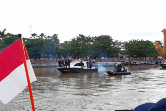 Obor Asian Games 2018 susuri Sungai Martapura