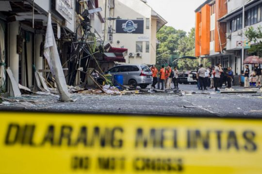 Ledakan gas di Grand Wijaya Center
